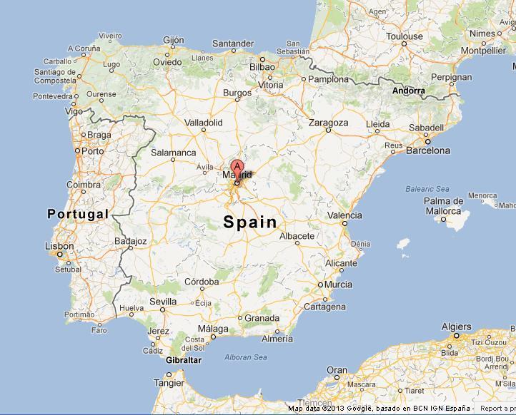 Madrid Maailman Kartta Madrid Espanja Maailman Kartta Espanja