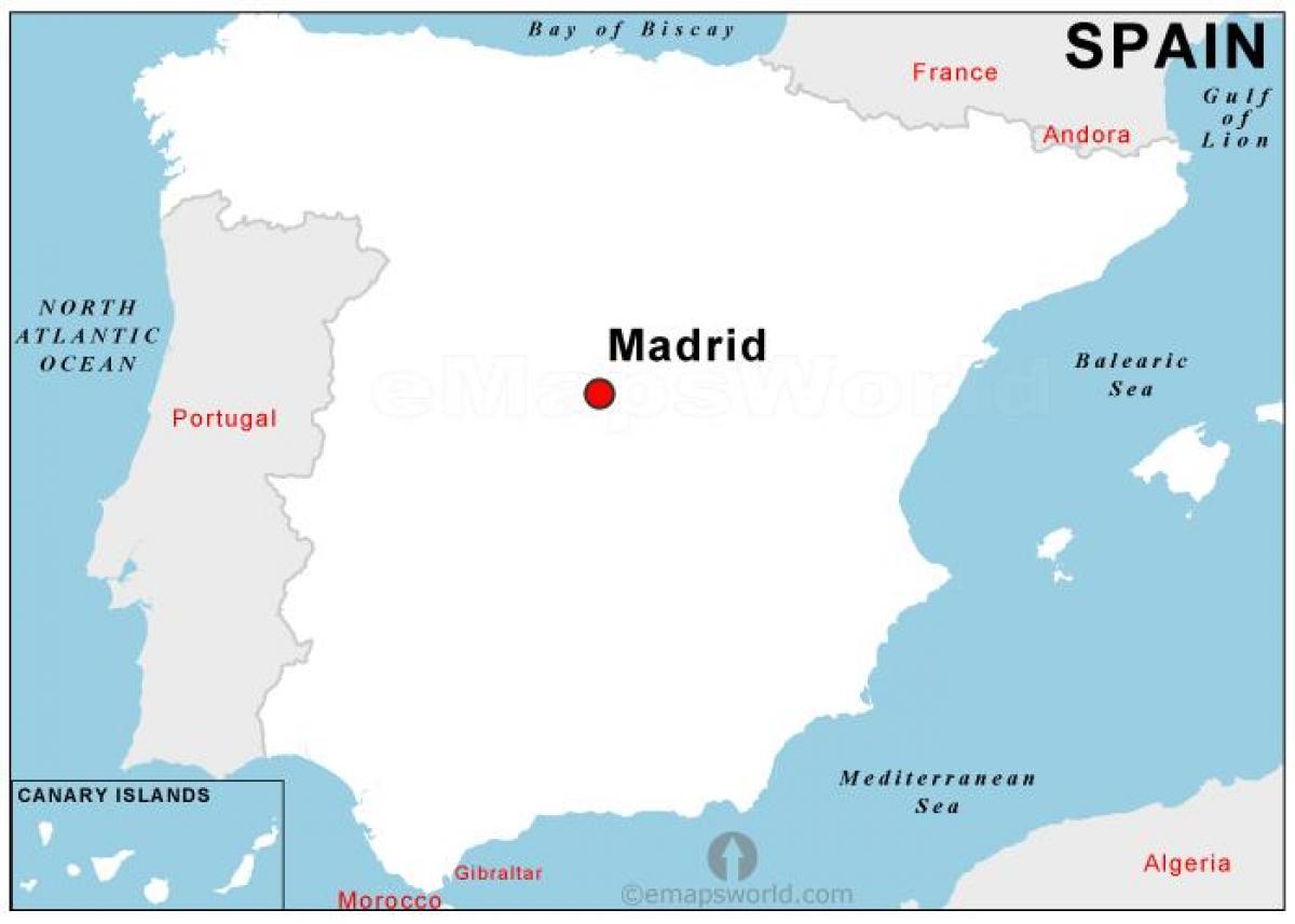 Paakaupunki Espanjan Kartta Kartta Paakaupunki Espanja Espanja