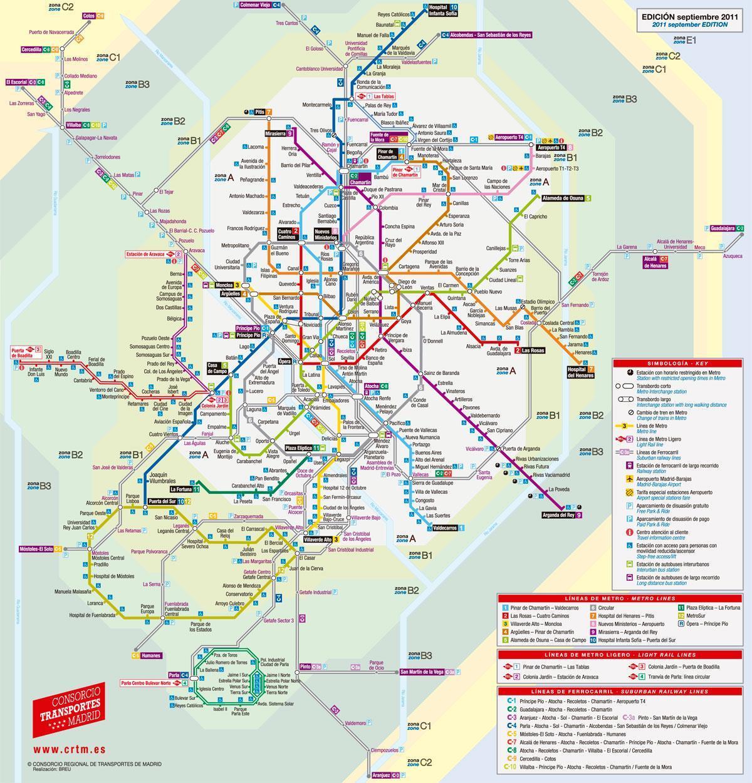 Madrid Raitiovaunu Kartta Kartta Madrid Raitiovaunu Espanja